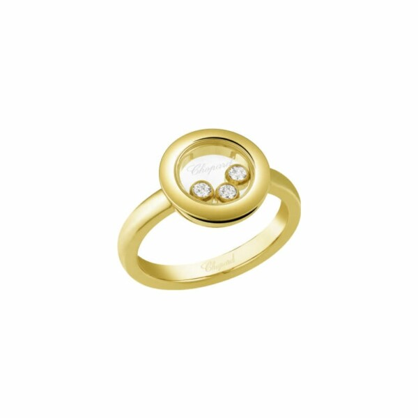 Bague Chopard Happy Diamonds en or jaune et diamants