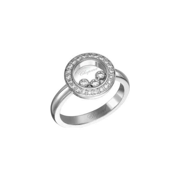 Bague Chopard Happy Diamonds en or blanc et diamants
