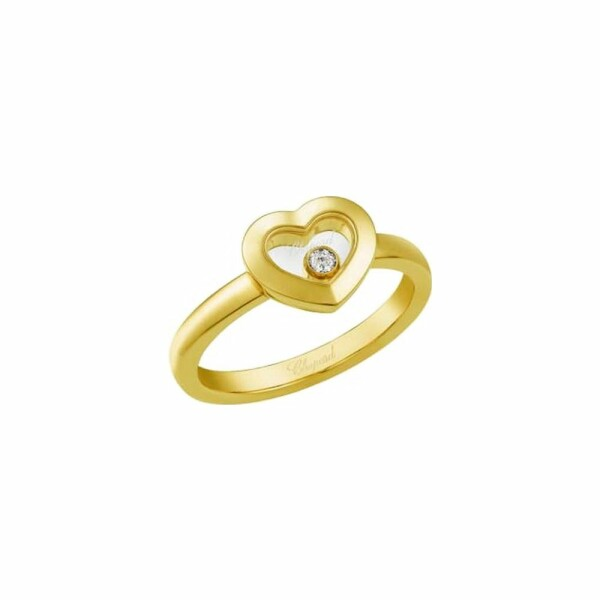 Bague Chopard Happy Diamonds en or jaune et diamant