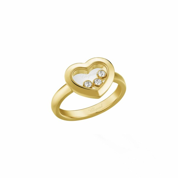 Bague Chopard Happy Diamonds Icons en or jaune et diamant