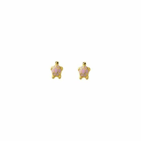 Boucles d'oreillles tortue en or jaune