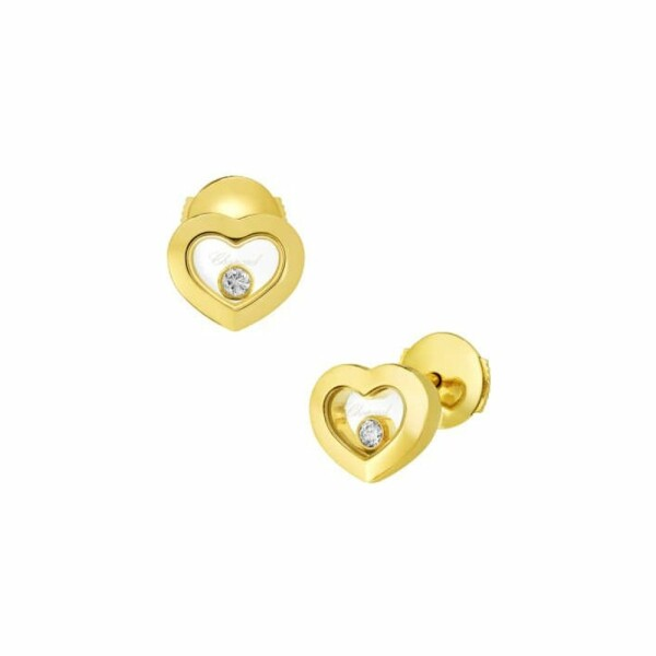 Boucles d'oreilles Chopard Happy Diamonds Icons en or jaune et diamants
