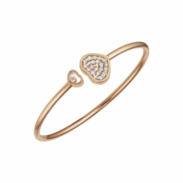 Bracelet Chopard Happy Hearts en or rose et diamants