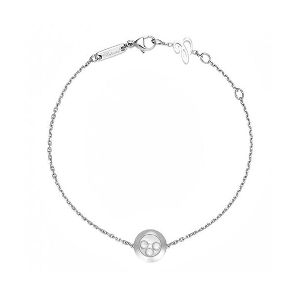 Bracelet Chopard Happy Diamonds en or blanc et diamants