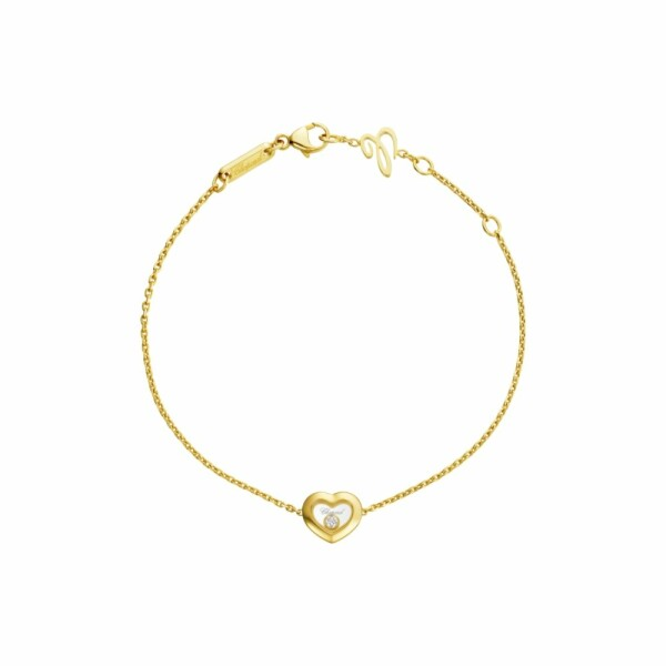 Bracelet Chopard Happy Diamonds en or jaune et diamant