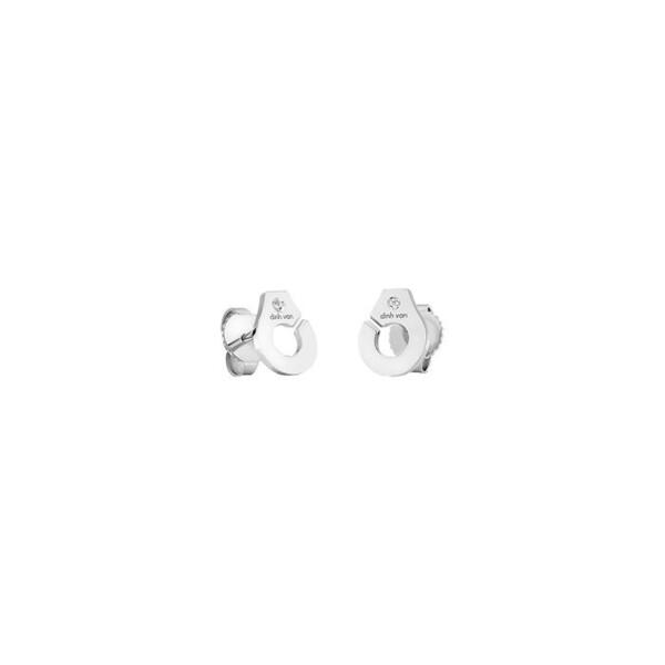 Boucles d'oreilles dinh van Menottes R7,5 en Or blanc et Diamant