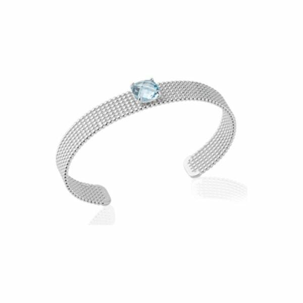 Bracelet Jonc en argent et pierres
