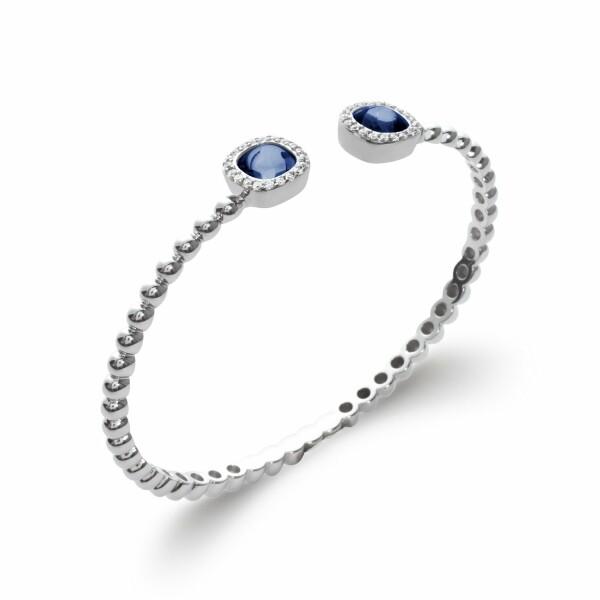 Bracelet en argent et pierres