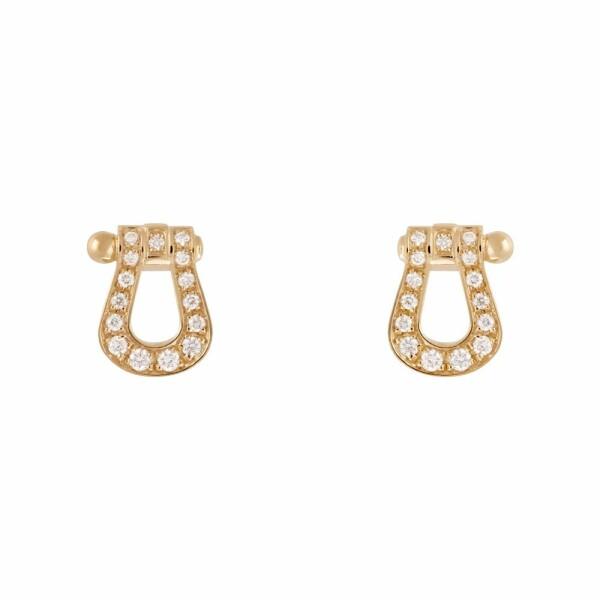 Boucles d'oreilles FRED Force 10 en or jaune et diamants