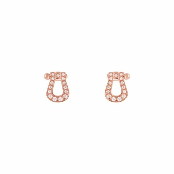 Boucles d'oreilles FRED Force 10 en or rose et diamants