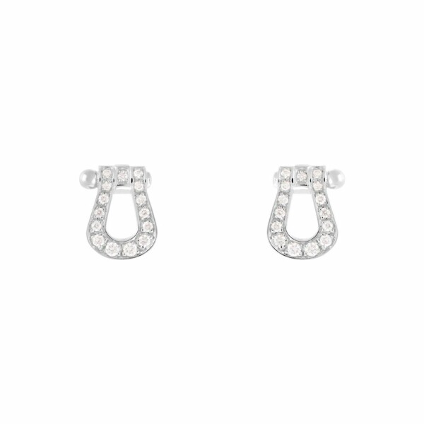 Boucles d'oreilles FRED Force 10 en Or blanc et 30 Diamants