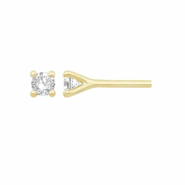 Boucles d'oreilles en or jaune et diamant de 0.17ct