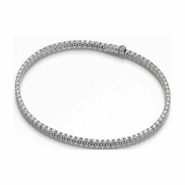 Bracelet en or blanc et diamants de 2.11ct