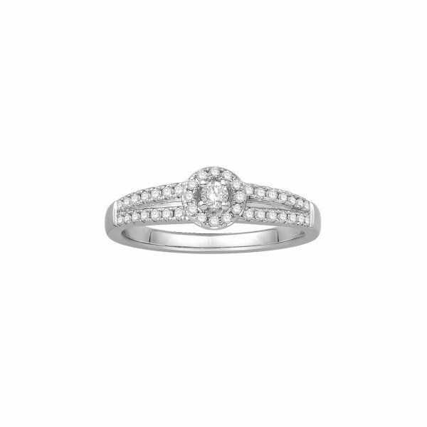 Bague en or blanc et diamants de 0.36ct