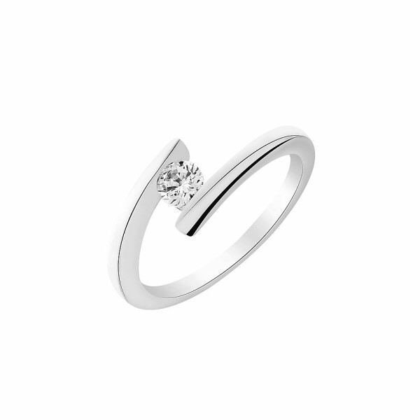 Solitaire en or blanc et diamant de 0.11ct