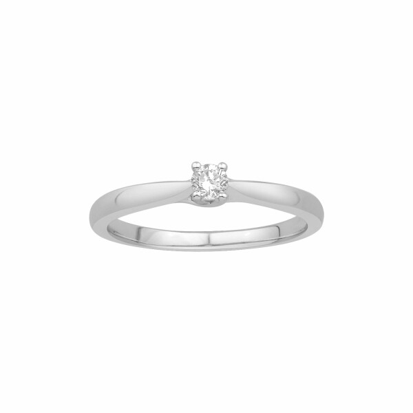 Bague en or blanc et diamant de 0.12ct