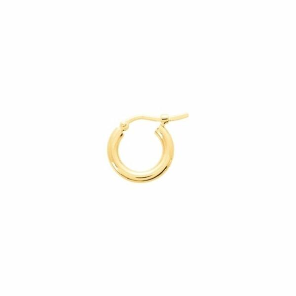 Boucles d'oreillles créoles en or jaune