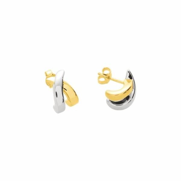 Boucles d'oreilles électroformée en or blanc