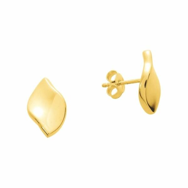 Boucles d'oreilles électroformée en or jaune