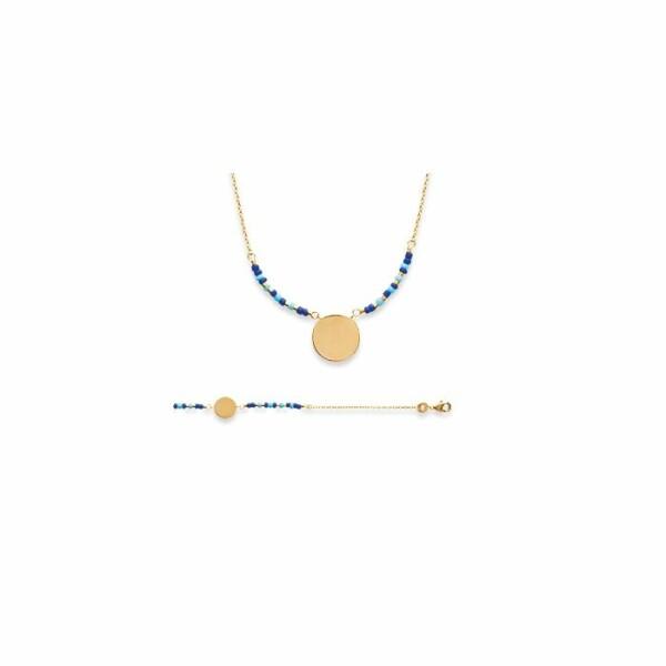 Bracelet en plaqué or jaune. oxydes de zirconium et pierres, longueur de 18cm