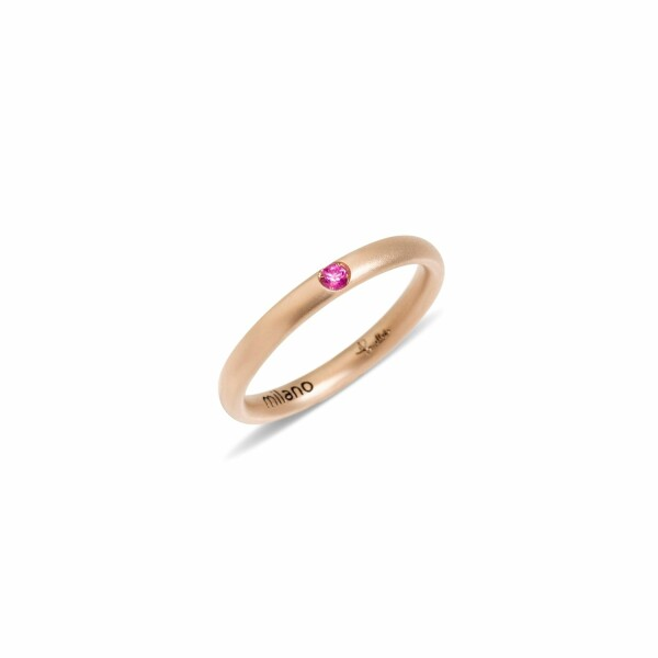 Bague Pomellato Lucciole en or rose et saphir rose