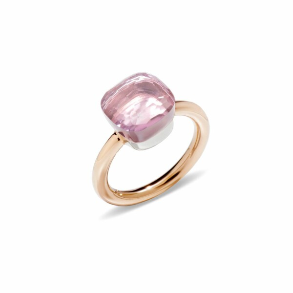 Bague Pomellato Nudo en Or rose et or blanc