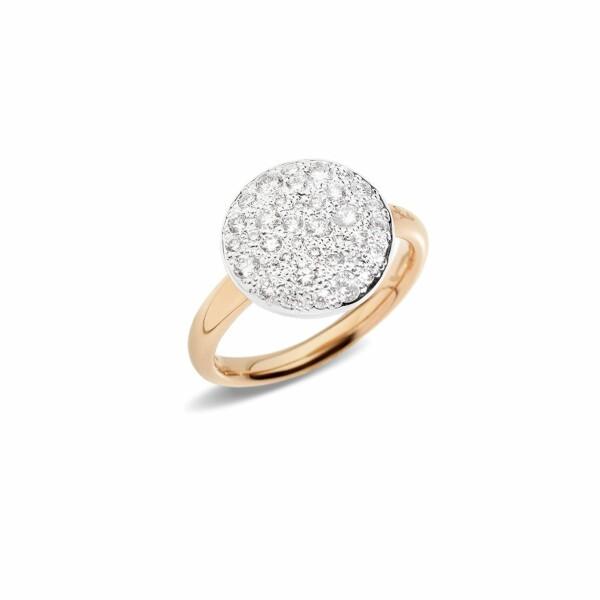 Bague Pomellato Sabbia en or rose et diamants