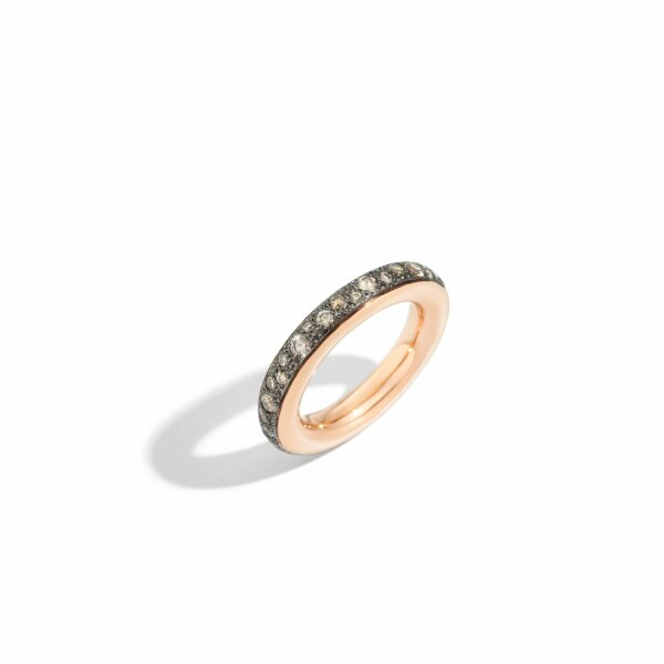 Bague Pomellato Iconica en or rose et diamants