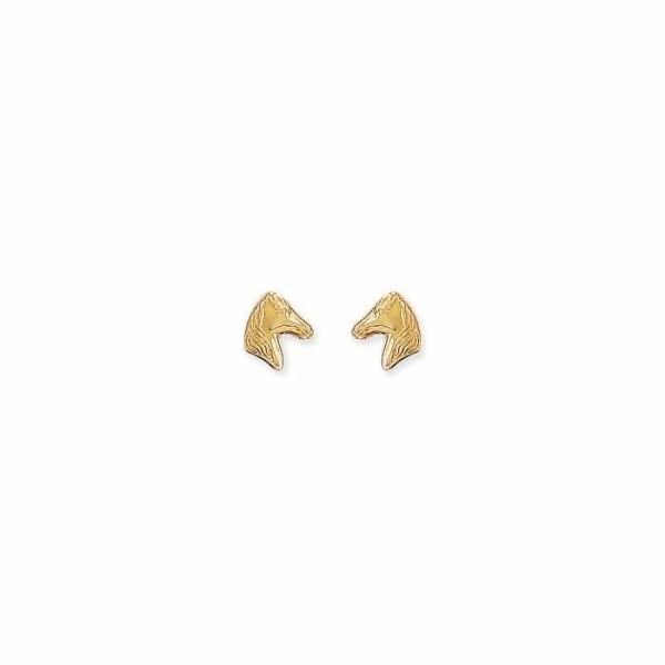 Boucles d'oreilles Cheval en or jaune