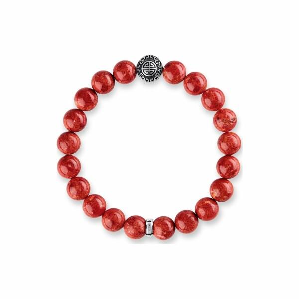 Bracelet Thomas Sabo Glam & Soul Ethnique rouge en argent et corail L (17 cm)