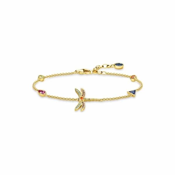 Bracelet Thomas Sabo Libellule en argent et pierres multicolores