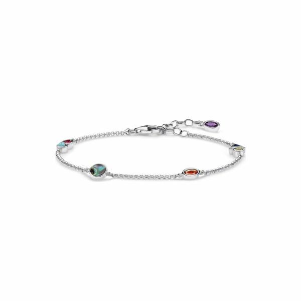 Bracelet Thomas Sabo en argent et pierres multicolores