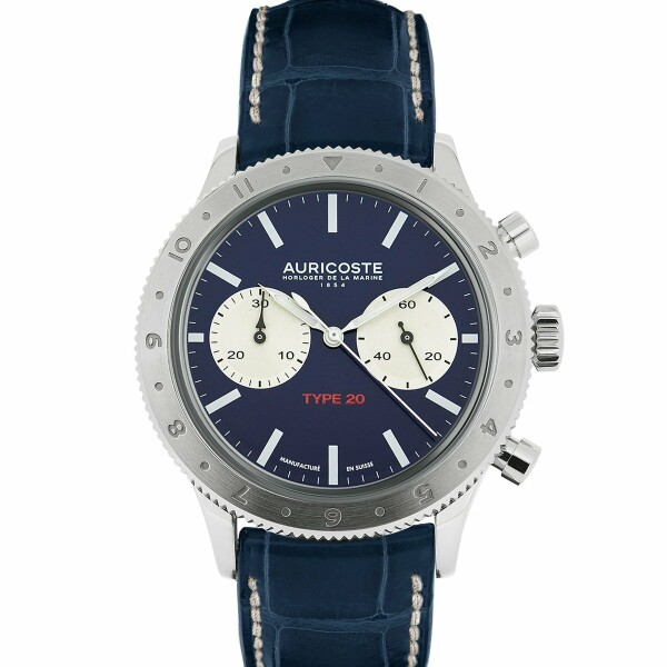 Montre Auricoste Type 20 Grand Bleu FlyBack 42mm Serie Limité 26 pieces A20HB