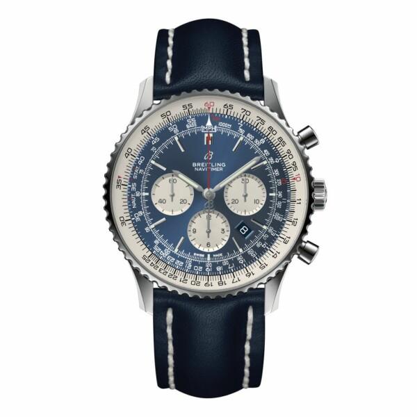 Montre Breitling Navitimer 1 B01 Chronograph 46 - Acier Aurora Blue
