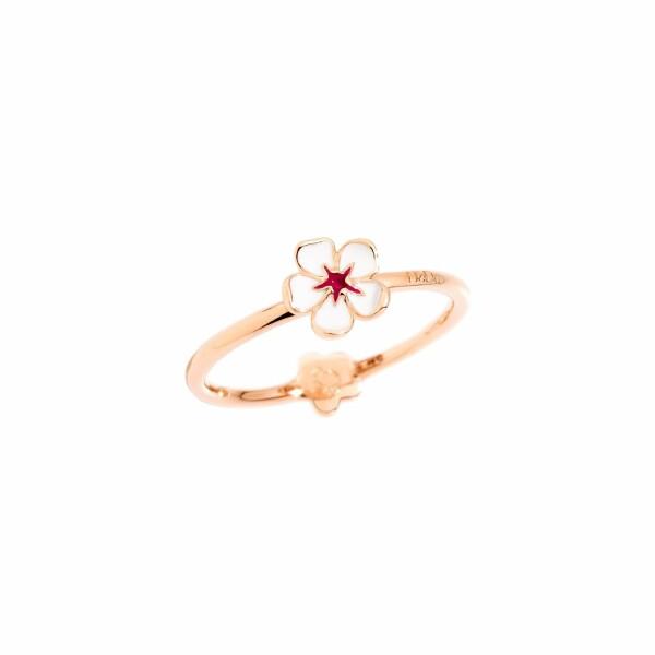Bague DoDo Fleur de cerisier en or rose et émail