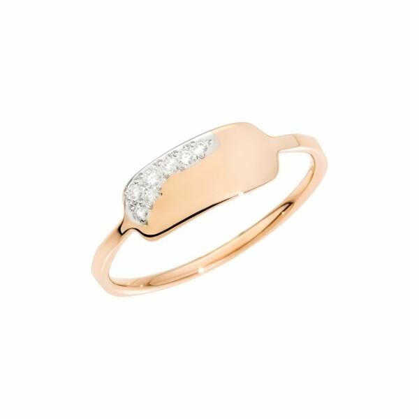 Bague DoDo Precious Tag en or rose et diamants