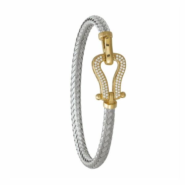 Bracelet Jourdan Bijoux Lyre en argent, plaqué or jaune et oxyde de zirconium