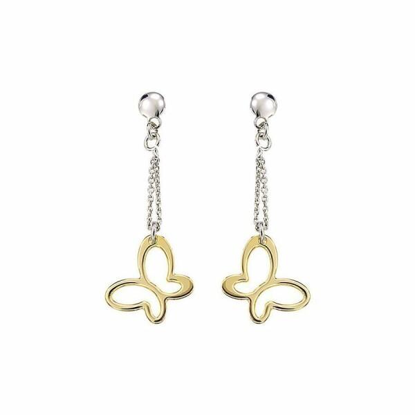 Boucles d'oreilles Jourdan Bijoux Belle Dame en argent, plaqué or jaune
