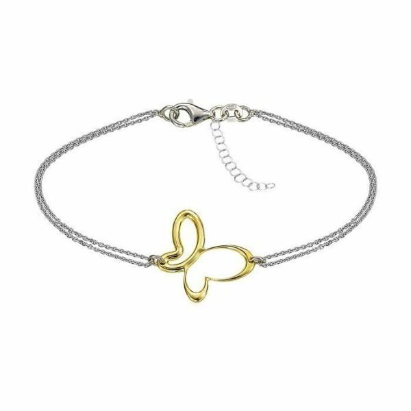 Bracelet Jourdan Bijoux Belle Dame en argent, plaqué or jaune