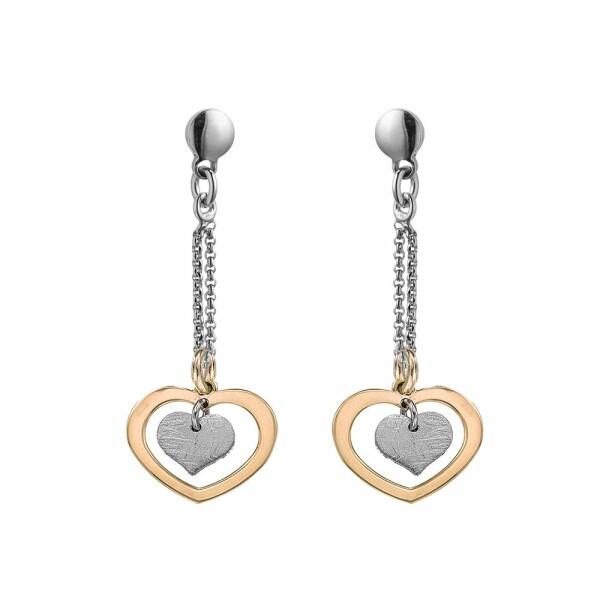 Boucles d'oreilles Jourdan Bijoux Valentine en argent, plaqué or jaune