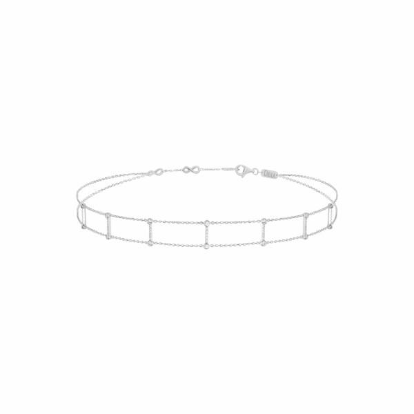 Bracelet Djula Double Rangs en or blanc et diamants