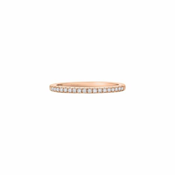 Demi alliance XS diamants taille brillants en or rose