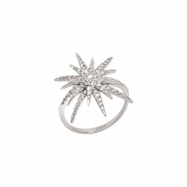 Bague Djula Bague Soleil Simple en or blanc et diamants