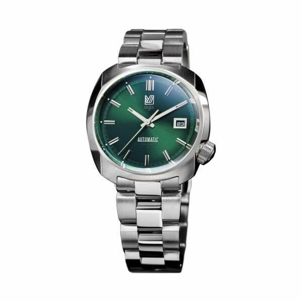 Montre March L.A.B AM1 Automatic - Forest - Bracelet en acier 3 maillons