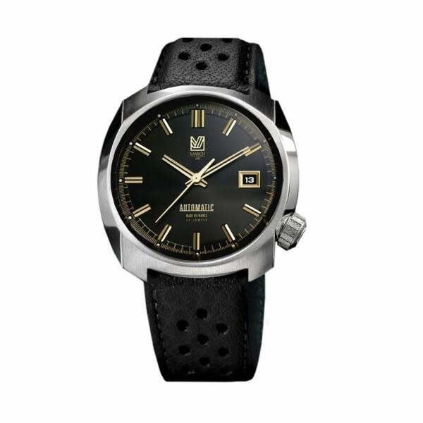 Montre March L.A.B AM1 Automatic - Supreme - Bracelet en buffle perforé noir