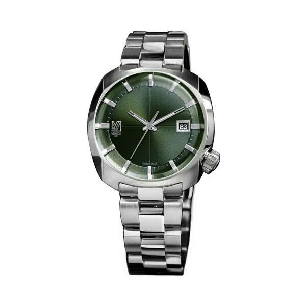 Montre March L.A.B AM1 Electric - Evergreen - Bracelet en acier 3 maillons