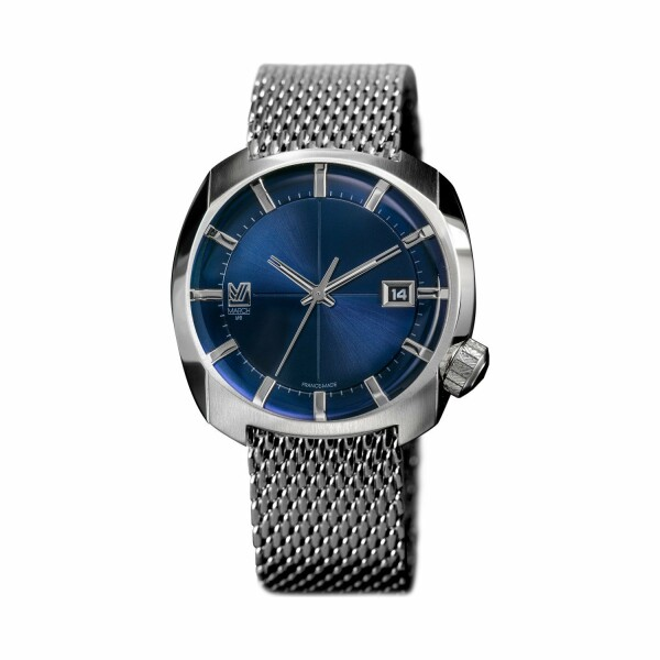 Montre March L.A.B AM1 Electric Ocean - Bracelet en maille milanaise