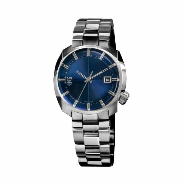 Montre March L.A.B AM1 Electric Ocean - Bracelet en acier 3 maillons