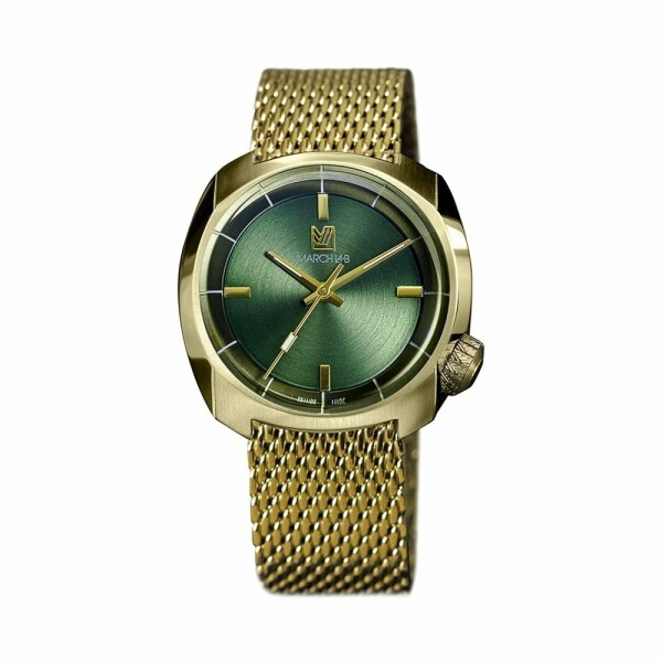 Montre March L.A.B AM1 Slim Electric - Sweet Green - mesh band
