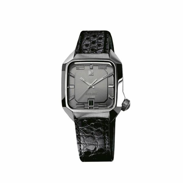 Montre March L.A.B AM2 Automatic - Gris - Bracelet en alligator perforé noir